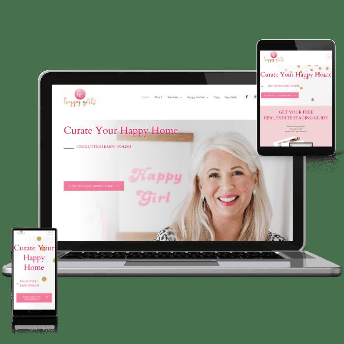 Happy Girl Website Design by the WanderWeb
