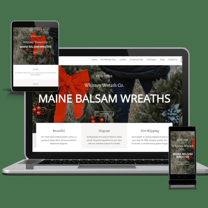 Whitney Wreath Web Design by the WanderWeb
