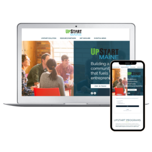 UpStart Maine Website by the WanderWeb